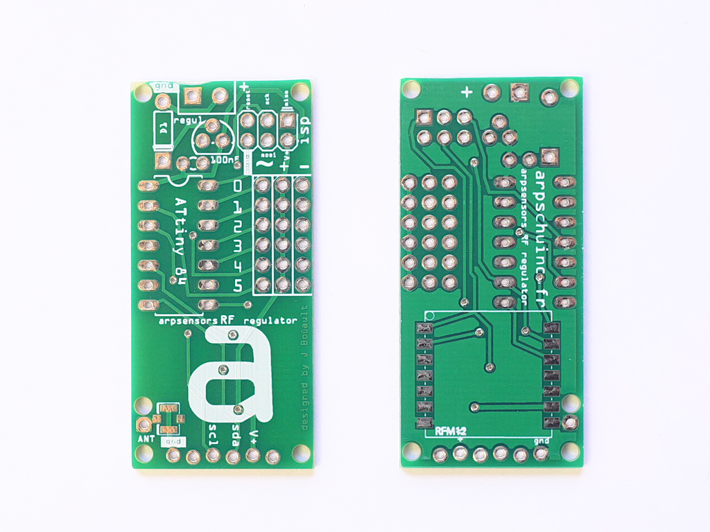 arpsensors RF regulator, PCB