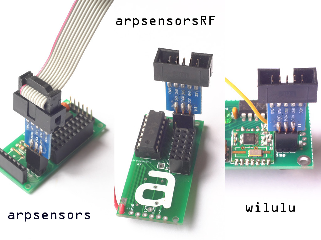 USBasp on arpsensors, arpsensorsRF and wilulu