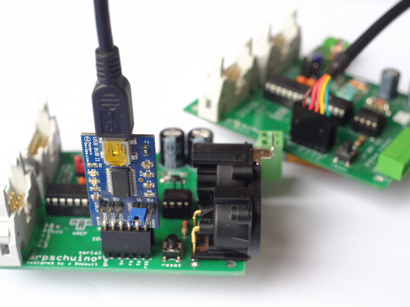 arpschuino et adaptateur USB/Serial